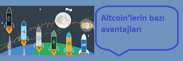 altcoin avantajları