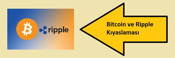 bitcoin ve ripple kıyaslaması